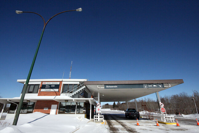 The border crossing at Boissevain was quiet on Saturday.