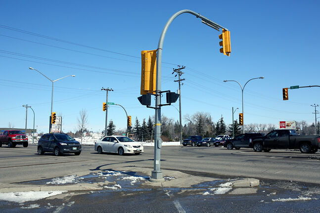 Traffic navigates through the intersection of 18th Street and Richmond Avenue on Sunday afternoon. According to data provided by Manitoba Public Insurance, this intersection saw 268 collisions between 2008 and 2012.