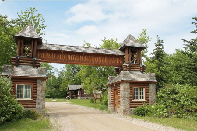 The East Gate entrance to Riding Mountain National Park is a dedicated national historic site. The park is working on plans to put a new trail hub and picnic area here to increase visitors.