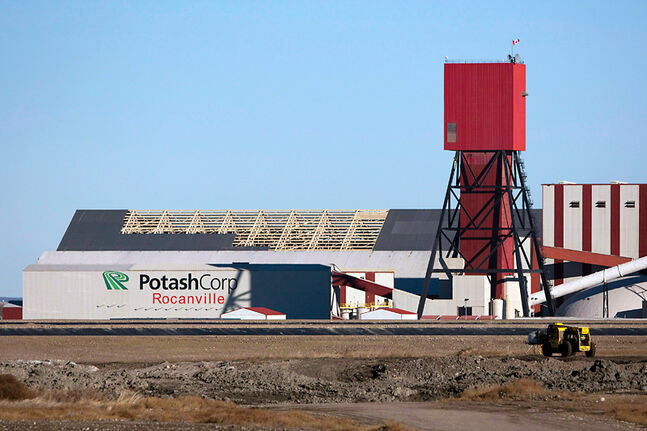 The exterior of the PotashCorp mine near Rocanville, Sask., is shown in a 2010 photo. The facility is undergoing a $3-billion expansion, increasing its production from three million tonnes to 5.7 million tonnes of ore per year.