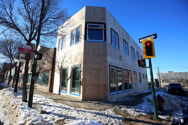 Ron Fay of RAF Engineering is redeveloping this building at the corner of Rosser Avenue and Seventh Street into a business office on the main floor, and possibly a residential component on the second storey.