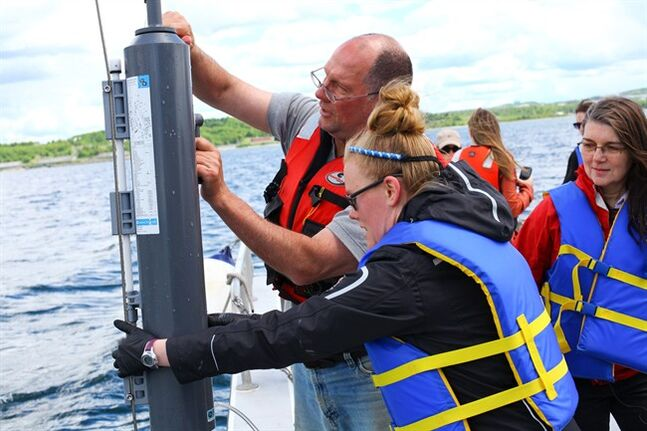 Richard Davis, left to right, Dr. Jennifer Tolman and Dr. Julie LaRoche take part in World Ocean Sampling Day, a global effort to learn more about the ocean's microbes. THE CANADIAN PRESS/ho-Bruce Bottomley