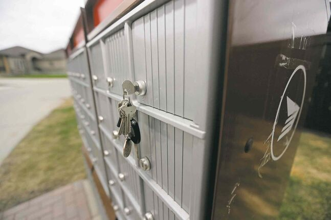 Canada Post area mailbox in Sage Creek, Wednesday, May 14.