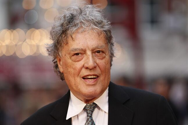 FILE - In this Sept. 4, 2012 file photo, British playwright Tom Stoppard poses as he arrives for the world premiere of