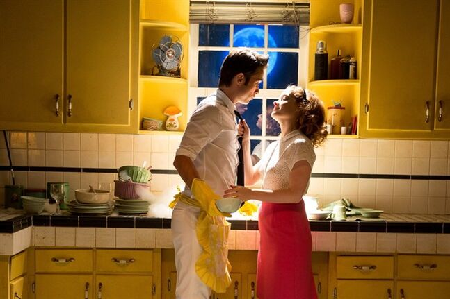 Actors Justin Chatwin and Jane Levy are shown in a scene from the film