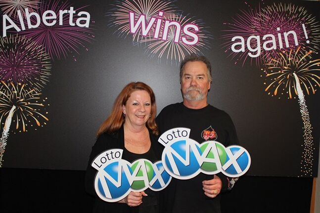 Darrell and Laurie Szczerba of Calgary won the $30 million prize for the February 15th LOTTO MAX draw. THE CANADIAN PRESS/ho