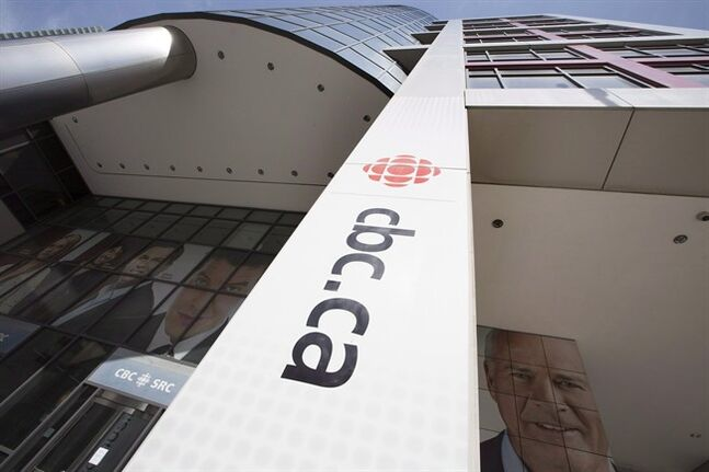 The exterior of the CBC building in Toronto on Thursday, April 10, 2014. CBC executives are planning a fresh round of service cuts, including making Radio 2 online-only and merging some French and English programs, according to an arm's-length watchdog group.THE CANADIAN PRESS/Peter Power