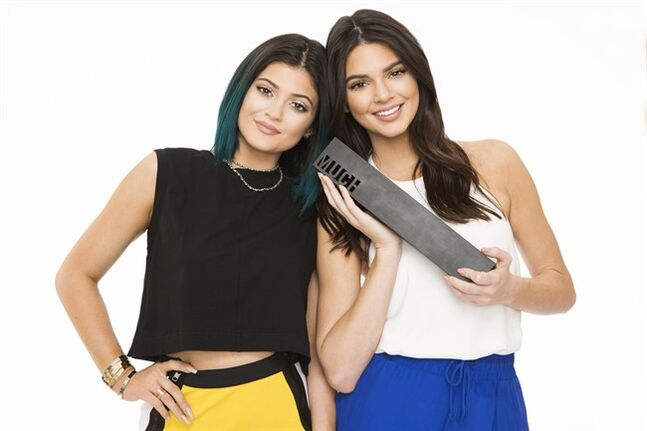 Kylie (left) and Kendall Jenner, shown in a handout photo, are hosting the Much Music Video Awards this Sunday in Toronto. THE CANADIAN PRESS/HO-MuchMusic
