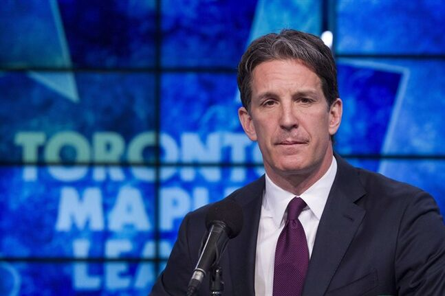 Toronto Maple Leafs President Brendan Shanahan attends a news conference in Toronto on Monday, April 14, 2014. The Leafs are expected to hire another assistant general manager to work with Kyle Dubas under Dave Nonis, something Shanahan said they should have in the works by next week. THE CANADIAN PRESS/Chris Young