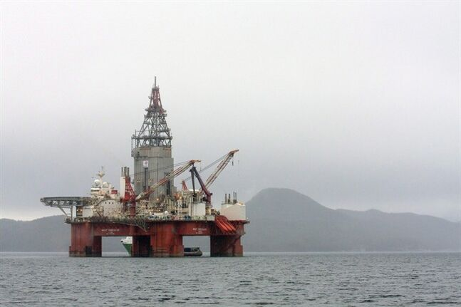 The West Hercules drilling rig is pictured in the Skaanevik fjord in western Norway on April 26, 2013. THE CANADIAN PRESS/AP, Scanpix, Statoil