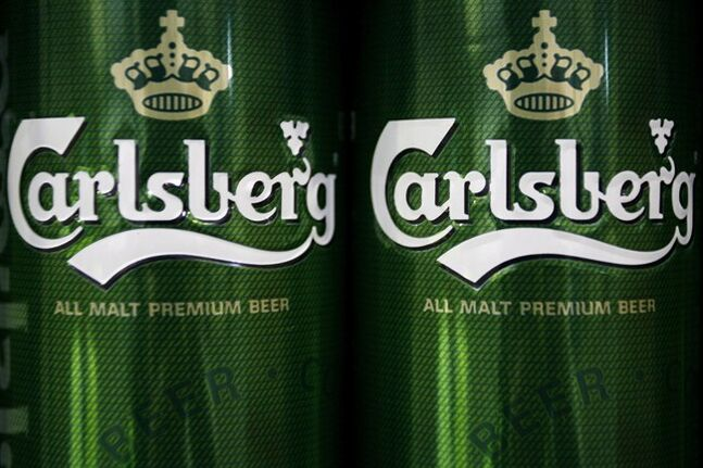 Carlsberg beer cans are pictured in Hamburg, Germany in 2012. THE CANADIAN PRESS/AP, Philipp Guelland/dapd