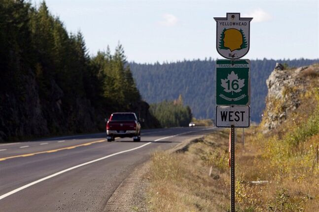 Highway 16 near Prince George, is pictured on Oct. 8, 2012. THE CANADIAN PRESS/Jonathan Hayward