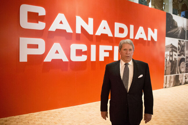 CP Rail CEO Hunter Harrison attends the company's AGM in Toronto on Wednesday, May 1, 2013. THE CANADIAN PRESS/Chris Young