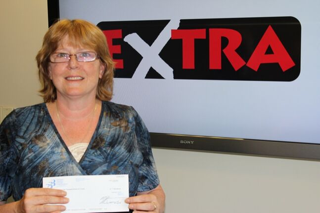 Karen Goodfellow, from Shilo, has picked up her $250,000 cheque.