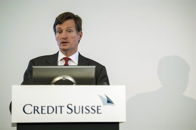 "Brady Dougan, CEO of Swiss Bank Credit Suisse, speaks during a press conference of the bank in Zurich, Switzerland, Tuesday, July 22, 2014. Credit Suisse AG posted a second-quarter net loss of 700 million Swiss francs (US dollar 779 million), after paying the largest penalty ever imposed in a U.S. criminal tax case. Dougan said ""I want to reiterate that we deeply regret the past misconduct that led to this settlement and that we take full responsibility for it"