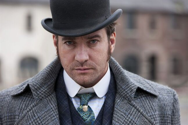 FILE - In this undated publicity file photo released by BBC shows, actor Matthew Macfadyen stars as Detective Inspector Edmund Reid, in a scene from