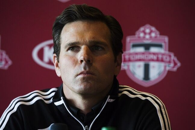 Greg Vanney attends a press conference as he is named Toronto FC's new head coach in Toronto on Sunday, August 31, 2014. The Greg Vanney era as manager of Toronto FC is starting with more than a few challenges. THE CANADIAN PRESS/Michelle Siu