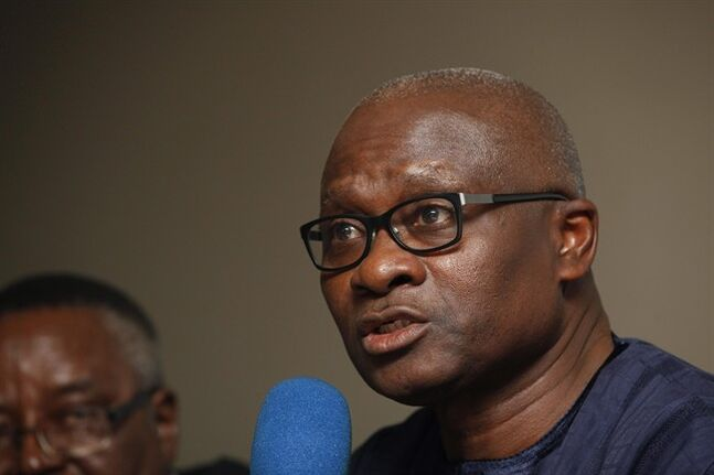 Lagos State Health Commissioner Jide Idris, speaks, during a news conference in Lagos, Nigeria, Monday July 28, 2014. No one knows for sure just how many people Patrick Sawyer came into contact with the day he boarded a flight in Liberia, had a stopover in Ghana, changed planes in Togo, and then arrived in Nigeria, where authorities say he died days later from Ebola, one of the deadliest diseases known to man. Now health workers are scrambling to trace those who may have been exposed to Sawyer across West Africa, including flight attendants and fellow passengers. (AP Photo/Sunday Alamba)