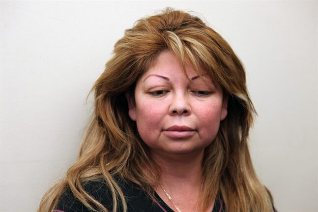 "This photo provided by the Long Beach (Calif.) Police Department shows Sandra Gonzalez. Gonzalez, a woman who advertised ""vampire face-lifts"" and other cosmetic procedures she wasn't licensed to perform has been arrested after a suspicious death at a Southern California beauty salon, police said Thursday, Feb. 13, 2014. (AP Photo/Long Beach (Calif.) Police Department)"