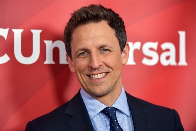 FILE - Seth Meyers seen at the NBC/Universal Winter 2014 TCA on in this January. 19, 2014 file photo taken in Pasadena, Calif. Meyers has departed