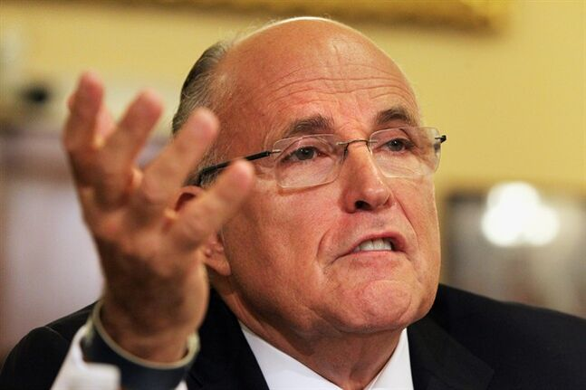 FILE - In a Wednesday, July 10, 2013 file photo, former New York City Mayor Rudy Giuliani testifies on Capitol Hill in Washington. Giuliani said Sunday, Jan. 12, 2014 that he finds it