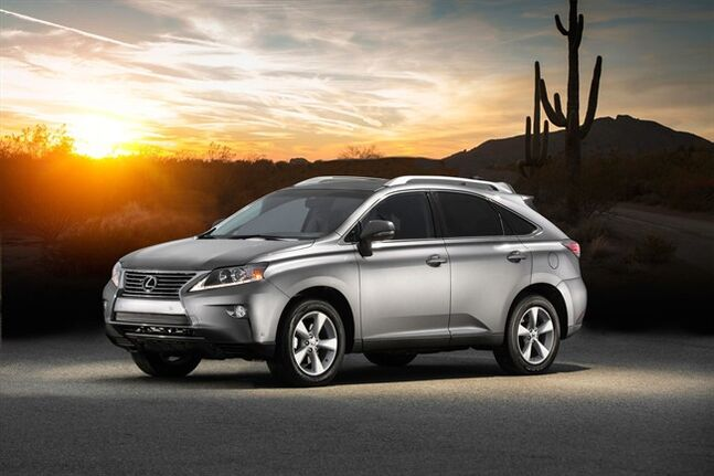 This product image provided by Toyota shows the 2015 Lexus RX 350. (AP Photo/Toyota)