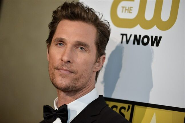 FILE - In this June 19, 2014 file photo, Matthew McConaughey arrives at the Critics' Choice Television Awards at the Beverly Hilton Hotel in Beverly Hills, Calif. Ford's luxury Lincoln brand says the Oscar-winning actor will appear in a series of TV and digital ads featuring Lincoln's new small SUV, the MKC. (Photo by Richard Shotwell/Invision/AP, File)