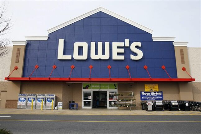 This March 25, 2014 photo shows a Lowe's store in Philadelphia. Lowe's Cos. reports quarterly earnings on Wednesday, May 21, 2014. (AP Photo/Matt Rourke)