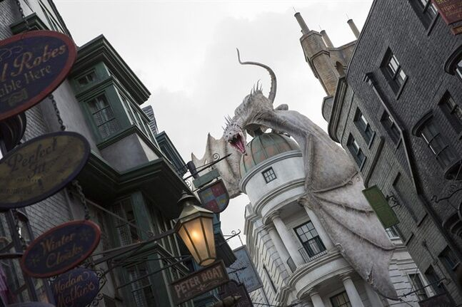 This June 2014 photo released by Universal Orlando Resort shows