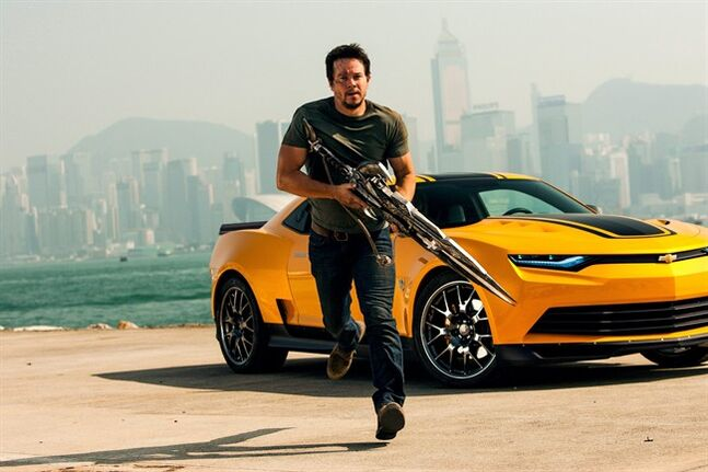 This photo released by Paramount Pictures shows Mark Wahlberg as Cade Yeager, in the film,