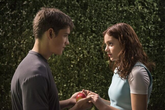 This image released by The Weinstein Company shows Brenton Thwaites, left, and Odeya Rush in a scene from