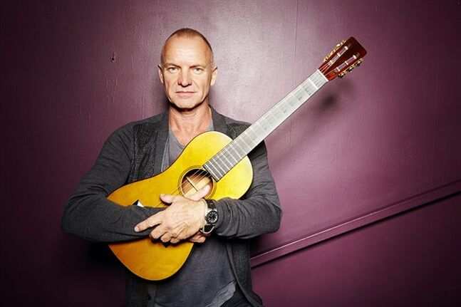 FILE - In this Sept. 26, 2013, file photo, Sting poses for a portrait at The Public Theater in New York. Producers said Wednesday, Feb. 12, 2014, that the show