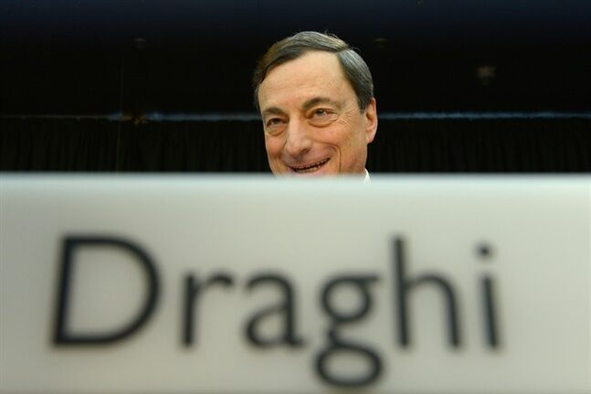 ECB president Mario Draghi, attends a press conference of the European Central Bank ( ECB) in Frankfurt, central Germany, Thursday Jan. 9, 2014. European Central Bank is ready to take