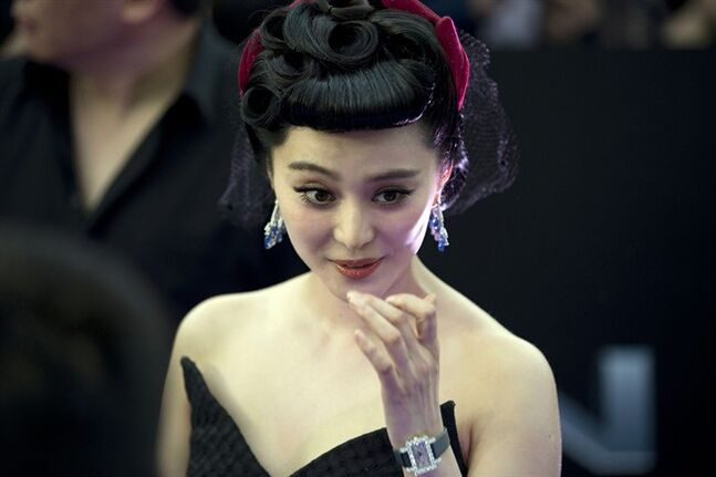 Chinese actress Fan Bingbing arrives at the red carpet for her latest movie
