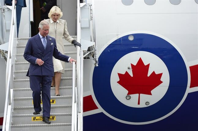 Prince Charles and his wife Camilla arrive in Halifax Sunday, May 18, 2014. The Royal couple begin a four-day tour of Canada. THE CANADIAN PRESS/Paul Chiasson