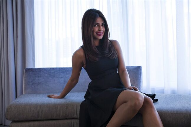 Bollywood superstar Priyanka Chopra is photographed in a Toronto hotel room as she promotes the movie 'Mary Kom' at the 2014 Toronto International Film Festival in Toronto on Thursday, Sept. 4, 2014. THE CANADIAN PRESS/Chris Young