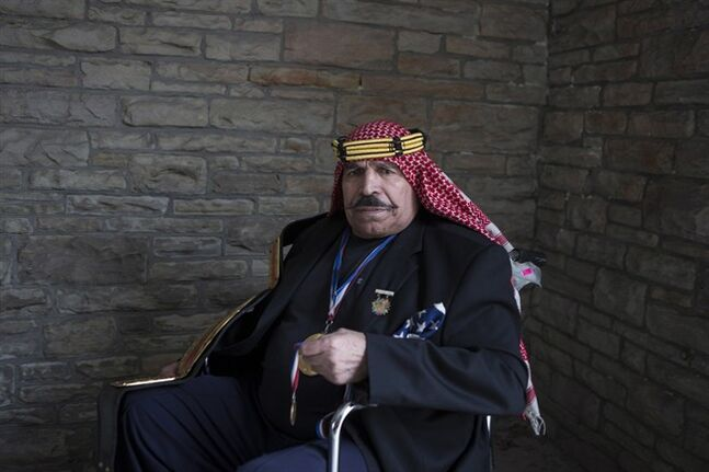 Former wrestler the Iron Sheik is pictured in Toronto as he promotes the new documentary,