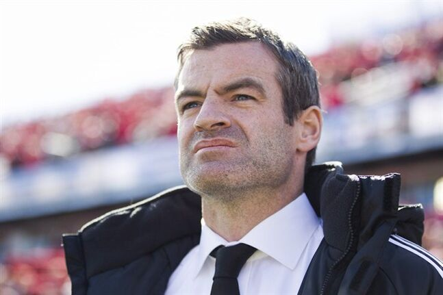 Toronto FC manager Ryan Nelsen looks on before his team's MLS match against the L.A. Galaxy in Toronto on Saturday March 30, 2013. After a six-win season in his first year of charge at Toronto FC, Nelsen says he knows the clock is ticking on his MLS watch.THE CANADIAN PRESS/Chris Young