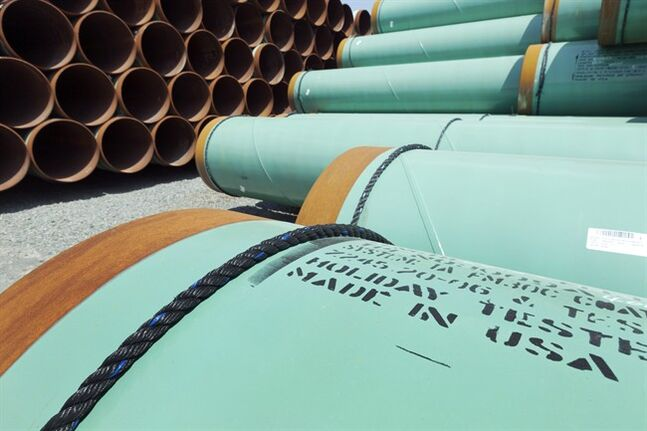 Pipes intended for the Keystone XL pipeline sit in storage in Little Rock, Ark. May 24, 2012. THE CANADIAN PRESS/AP, Danny Johnston