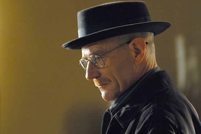 Walter White, played by Bryan Cranston, is shown in a scene from the second season of