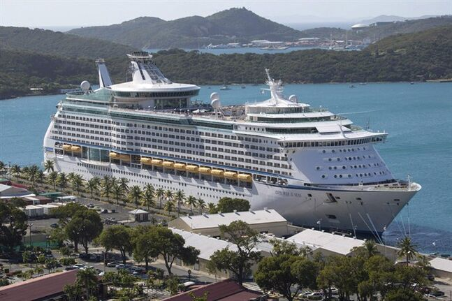 The Royal Caribbean International's Explorer of the Seas is docked at Charlotte Amalie Harbor in St. Thomas, U. S. Virgin Islands, Sunday, Jan. 26, 2014. THE CANADIAN PRESS/AP, Thomas Layer