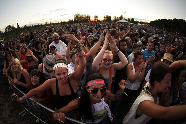 The fact many Manitobans are scaling back travel plans this summer  bode well for area tourist attractions such as the Winnipeg Folk Festival.