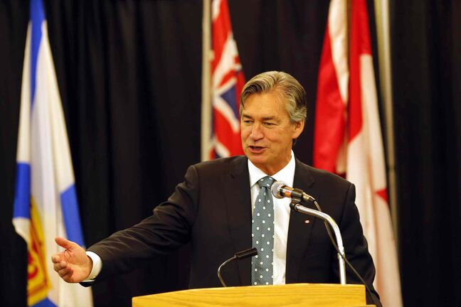 Ambassador Gary Doer says he's encouraged by seeing 'the building crane all over town' every time he returns to Winnipeg to visit family and friends.