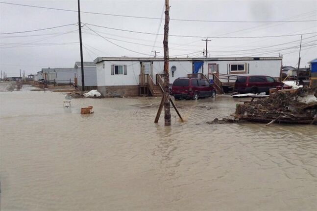 Provincial officials say more residents of the remote northern Ontario community of Kashechewan were being flown out of the area Monday, Mqy 12, 2014 as evacuations continued due to flood threats. THE CANADIAN PRESS/ho-Kashechewan First Nations Communications
