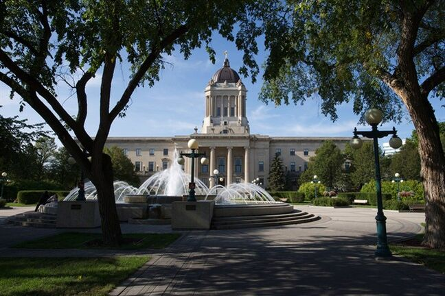 The Manitoba Legislature in Winnipeg, Saturday, August 30, 2014. The seat of political power in Manitoba is the last place one might expect to find the bust of Medusa, recurring odes to