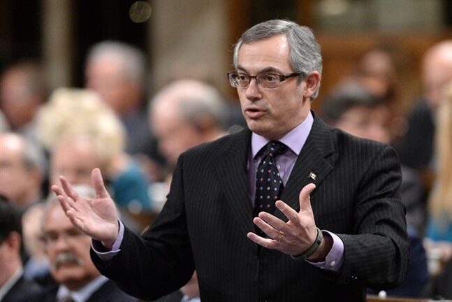 Treasury Board President Tony Clement responds to a question during question period in the House of Commons on Parliament Hill in Ottawa on Wednesday, January 29, 2014. THE CANADIAN PRESS/Sean Kilpatrick