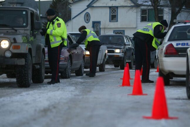 Brandon police checked more than 3,000 drivers at a series of Checkstops over the holidays.