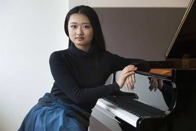 Pianist Karin Kei Nagano poses in Montreal, Tuesday, February 18 2014, to promote her first album. THE CANADIAN PRESS/Graham Hughes