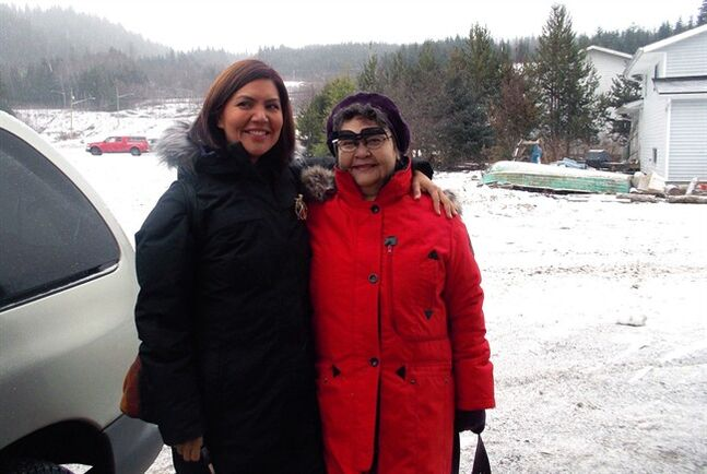 Carla Robinson, left, poses with her mother Winnie Robinson in Kitimat, B.C. in this December 2013, family handout photo.THE CANADIAN PRESS/ HO