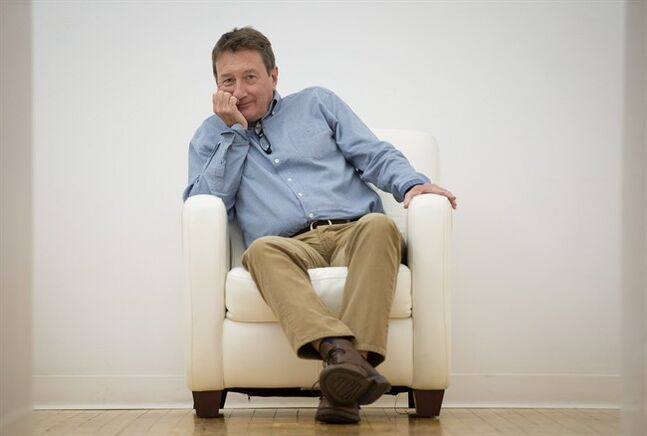Director Steven Knight poses in Toronto while promoting his new film